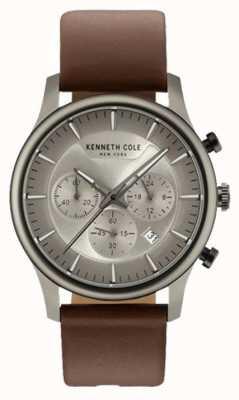 Kenneth Cole Bracelet en cuir marron multifonction multifonction en cuir marron KC15106001