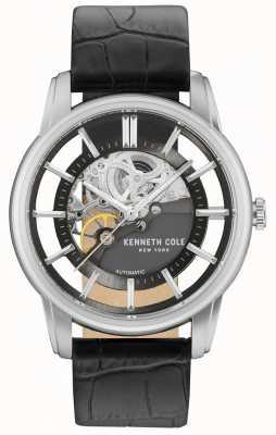 Kenneth Cole Bracelet en cuir noir à coiffe pour hommes KC15116001
