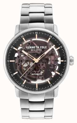 Kenneth Cole Bracelet en acier inoxydable automatique noir KC15104004