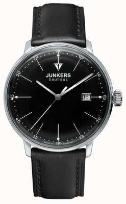 Junkers Bracelet en cuir noir pour homme bauhaus noir 6070-2