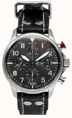 Junkers Mens junkers 3 eurofighter chronographe automatique noir 6826-5
