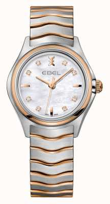 EBEL Montre femme en or rose bicolore Wave 1216324