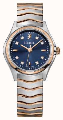 EBEL Montre à deux tons bleue 1216379