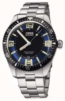 Oris Divers cadran bleu automatique en acier inoxydable de soixante-cinq 01 733 7707 4035-07 8 20 18