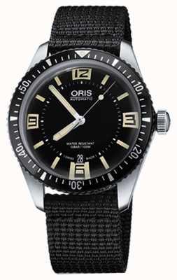 Oris Divers soixante-cinq bracelet en tissu automatique cadran noir 01 733 7707 4064-07 5 20 24