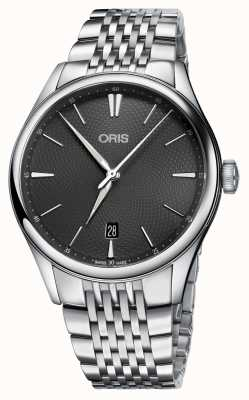 Oris Artelier date cadran gris automatique en acier inoxydable 01 733 7721 4053-07 8 21 79