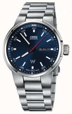 Oris Williams jour date automatique en acier inoxydable cadran bleu 01 735 7740 4155-07 8 24 50S