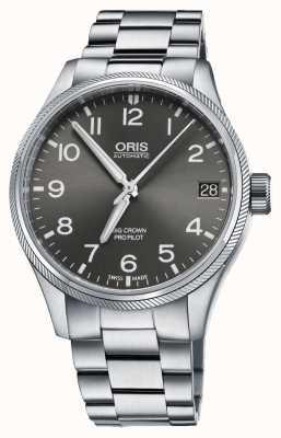 Oris Grand cadran gris en acier inoxydable 01 751 7697 4063-07 8 20 19