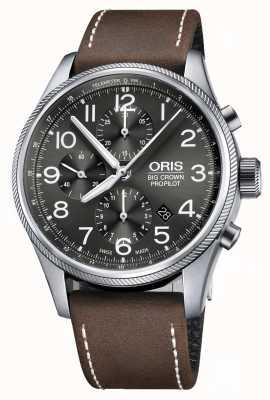Oris Chronographe automatique à grande couronne chronographe bracelet en cuir marron 01 774 7699 4063-07 5 22 05FC
