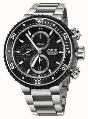 Oris Prodiver 1000m chronographe automatique titane 01 774 7727 7154-SET