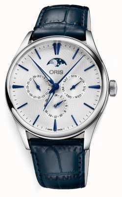 Oris Artelier date complication automatique bracelet en cuir bleu 01 781 7729 4051-07 5 21 66FC