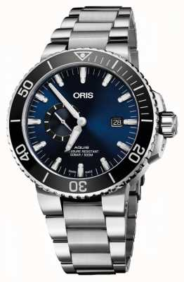 Oris Aquis date automatique en acier inoxydable cadran bleu 01 743 7733 4135-07 8 24 05PEB