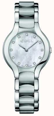 EBEL Ensemble de diamants beluga pour femmes en acier inoxydable 1216038