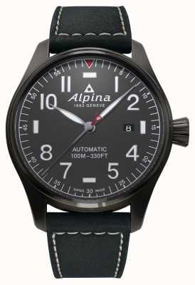Alpina Bracelet homme noir startimer pilote automatique AL-525G4TS6