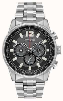 Citizen Chronographe nighthawk pour hommes éco-drive en acier inoxydable CA4370-52E
