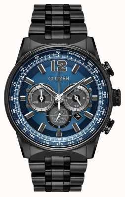 Citizen Hommes eco-drive nighthawk chronographe noir ip CA4375-59L
