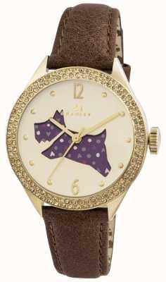 Radley Le grand bracelet en cuir marron à l'extérieur RY2210