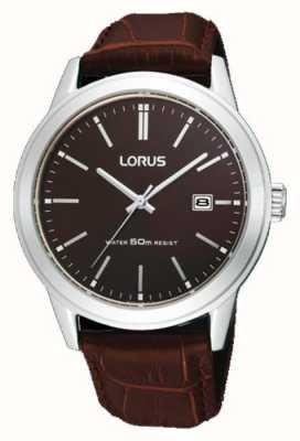 Lorus Montre bracelet en cuir marron pour homme 38m RH925BX9