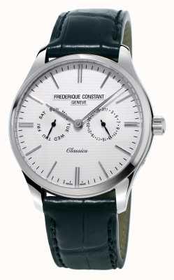 Frederique Constant Bracelet en cuir noir pour homme classique / bracelet en nato vert FC-259ST5B6