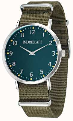 Morellato Montre homme velours cadran vert / sangle R0151134004