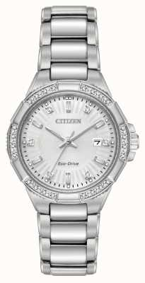 Citizen Jeu de diamants en acier inoxydable Riva eco-drive EW2460-56A