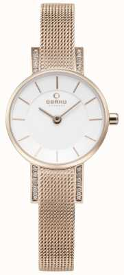 Obaku Womans lykke montres en or rose V207LEVIMV