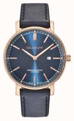GANT Bracelet en cuir bleu homme nashville bleu GT006007