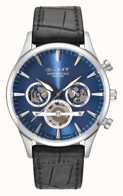GANT Bracelet en cuir noir Mens ridgefield bleu GT005001