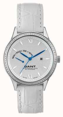 GANT Bracelet en cuir blanc kingstown pour femme cadran blanc W10765