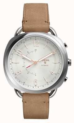 Fossil Q complice hybride smartwatch cuir de sable FTW1200