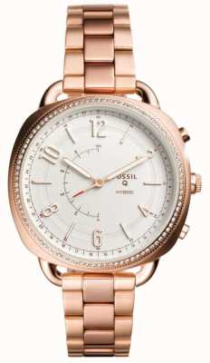 Fossil Smartwatch hybride Q complice rose ton or FTW1208
