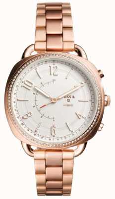 Fossil Q complice hybride smartwatch rose or doré FTW1208