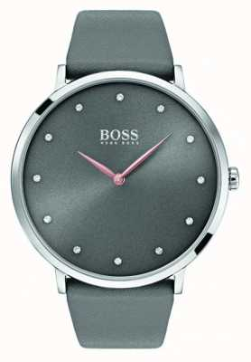 Hugo Boss Womans jillian regarde le cuir gris 1502413