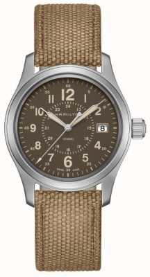 Hamilton Khaki field quartz 38mm beige canvas H68201993