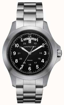 Hamilton Kaki Field King Quartz en acier inoxydable H64451133