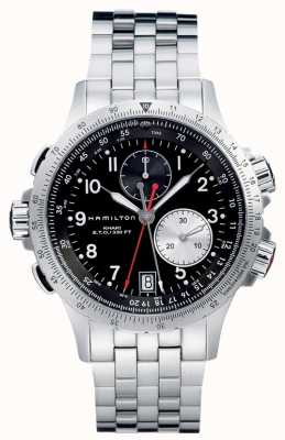 Hamilton Aviation eto chrono quartz en acier inoxydable H77612133