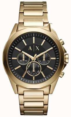 Armani Exchange Compteur noir chronographe en acier inoxydable AX2611