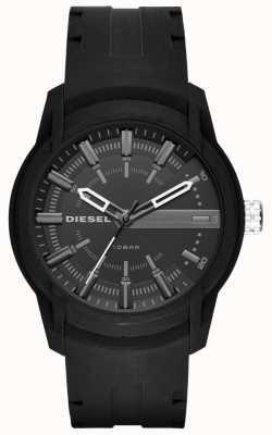 Diesel Bracelet en caoutchouc noir armbar pour homme DZ1830