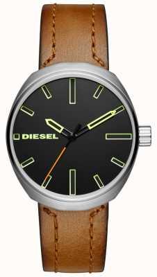 Diesel Bracelet en cuir marron klutch pour homme DZ1831