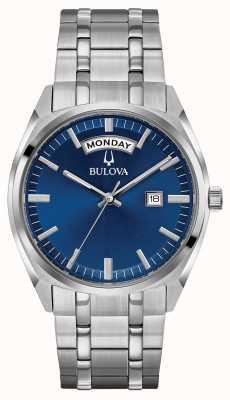 Bulova Bracelet classique en acier inoxydable bracelet bleu 96C125