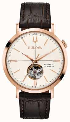 Bulova Hommes classique automatique rose doré 97A136