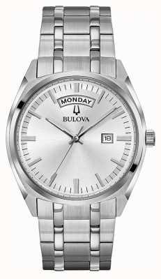 Bulova Bracelet classique en acier inoxydable bracelet argenté 96C127