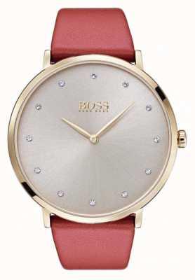 Hugo Boss Cuir en cuir doré en cuir jillian pour femme Womans 1502411