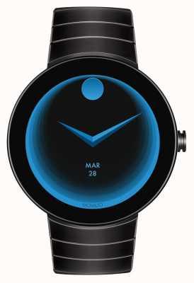 Movado Connectez le boîtier noir noir ip enduit smartwatch 3660015