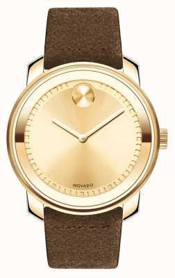 Movado Hommes en or audacieux avec bracelet en cuir 3600449