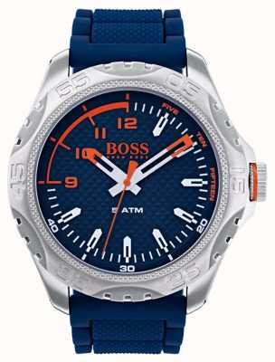 Hugo Boss Orange Montre Hommes Honolulu en caoutchouc bleu 1550031