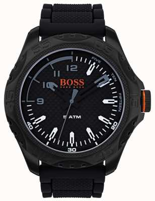 Hugo Boss Orange Montre Hommes Honolulu en caoutchouc noir 1550032
