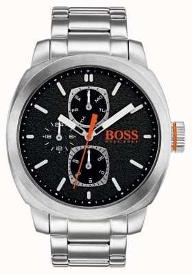 Hugo Boss Orange Montre du capetown pour hommes cadran noir acier inoxydable 1550029