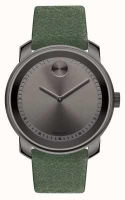 Movado Unisex grand en gras gris gris ionisé en suède vert 3600448