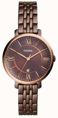 Fossil Montre jacqueline marron en acier inoxydable pour femme ES4275